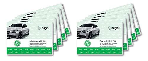Sigel - Libro de registro de viajes para coches, formato horizontal A6 10 unidades
