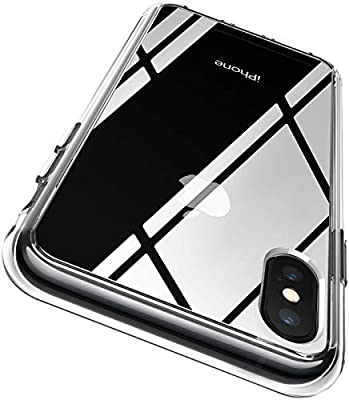 RANVOO iPhone Xs case, iPhone X case Protective Clear Case [Certified Military Protection] [Agile Button] with Reinforced Soft TPU Bumper and Transparent Hard PC Back Case (Crystal Clear)