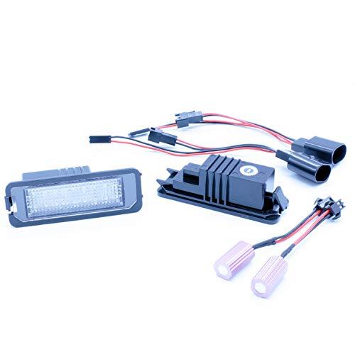 Vinstar Lot de 2 feux éclaire-plaques LED de rechange avec Canbus