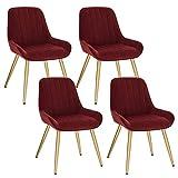 Lestarain 4X Sillas de Comedor Dining Chairs Sillas Tapizadas Paquete de 4...