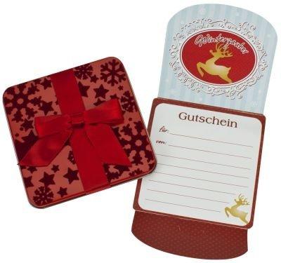 260170 Weihnachts Geschenk Gutschein Dose, Geschenkgutschein, Weihnachten