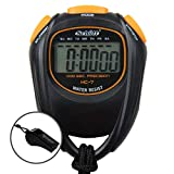 Schütt Cronómetro HC-7 con silbato – Cronómetro digital con pantalla grande y buen punto de presión | hobby | deporte | tiempo libre | resistente a salpicaduras