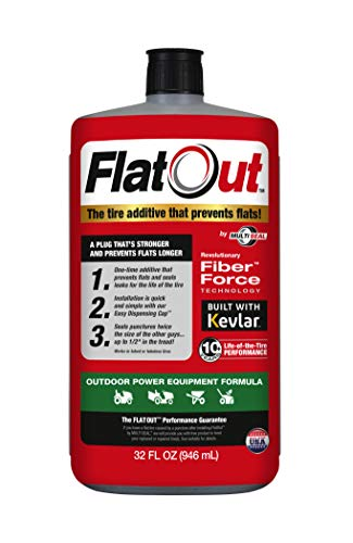 FlatOut 20120 Tire Sealant (Outdoor Power Equipment Formula), Great for Lawn Mowers, Small Tractors, Wheelbarrows, Woodchippers, Snow Blowers and more, 32-Ounce, 1-Pack