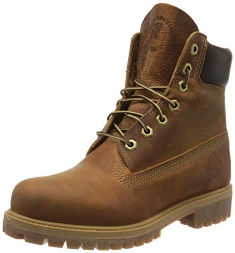 Timberland Heritage 6 Inch Premium Waterproof Stivali Uomo, Marrone (Medium Brown Nubuck), 42 EU