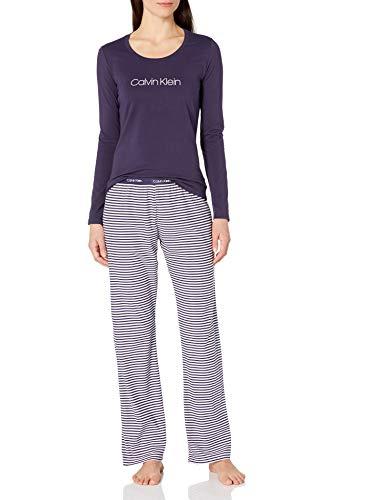 Calvin Klein Damen 3 Piece Comfort Fleece Pyjama Set, Obsess, X-Large