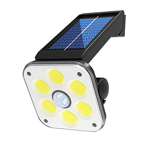 VISLONE Luz Solar Exterior 48/54LED con Sensor de Movimiento, LED Foco Solar Exterior,Lámpara Solar IP65 Impermeable 3 con Modos para Patio, Jardín, Balcón, Garaje
