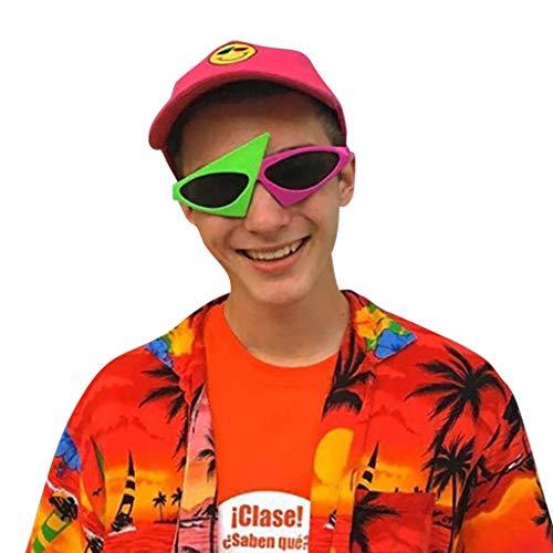 Yazidan Lustige verrückte Kostüm Brillen Neuheit Kostüm Party Sonnenbrillen Zubehör Foto Accessoires Photo Booth Requisiten Foto Props Dekorationen Requisiten Hochzeit, Valentinstag, Party