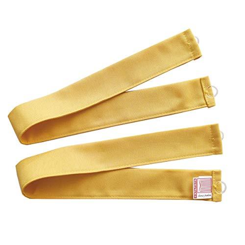 SeGaTeX home fashion 1 Paar Raffhalter/Raffbänder Hetty Gelb aus der Landhausserie Hetty