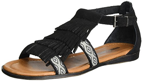 Minnetonka Damen Maui Sandalen, Schwarz (Black), 37 EU