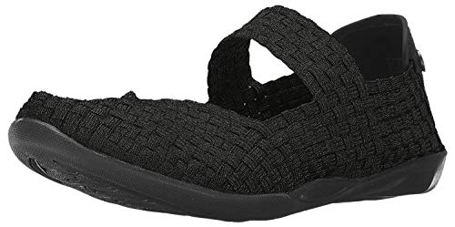 Bernie Mev Women's Cuddly Mary Jane Flat, Black Polka Dot, 40 EU/9.5-10 M US