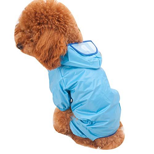 LOVEYue Al Aire Libre Impermeable Perro Ocio Sudaderas con Capucha Ropa Impermeable Chaqueta Mascota Disfraz De Cachorro, Moda, Clido, Elegante Rosa 24