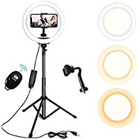Endurax 10 Inch Selfie Ring Light with Stand and Phone Holder