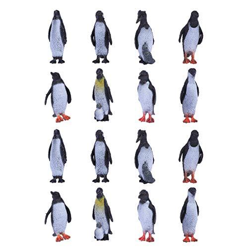 Toyvian Pingouin Figure Modèle Océan Polaire Animaux Figurines Décoration de La Maison Enfants Jouet Éducatif 16 PCS