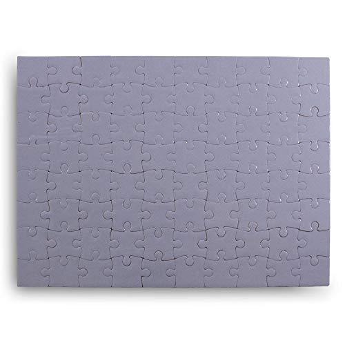 Kopierladen Puzzle weiß individuell gestalten und bemalen, leeres Puzzle mit glänzender Oberfläche, 80 Teile, 200 x 145 mm, Premium Qualität