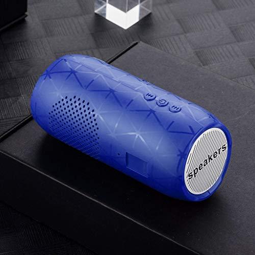 Parleur sans Fil Bluetooth stéréo HiFi Son Bar TF FM Radio Caisson de Basses Colonne Haut-parleurs for Ordinateur Téléphones (Color : Blue, Set Type : Speaker)
