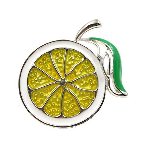 ERDING Brooch/2 Kleuren Kies Emaille Citroen Broche Unisex n Mannen Broche Pin Leuke Fruit Broches Mode Sieraden Jurk Cadeau