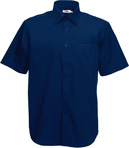 Fruit of the Loom Herren Freizeit-Hemd blau marineblau