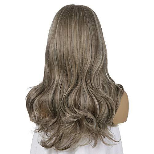 Cheveux longs Big Wavy perruques Brown Blonde perruques for les femmes couleurs mélangées fibres synthétiques perruque résistant à la chaleur fibre (Color : Light gold+brown)