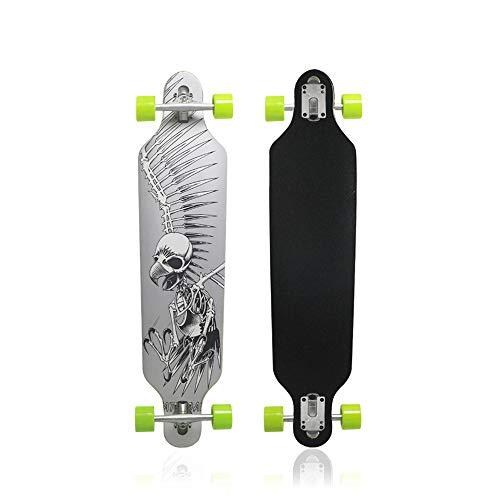 MammyGol 42 Inch Maple Longboard Skateboard Drop Through Complete...