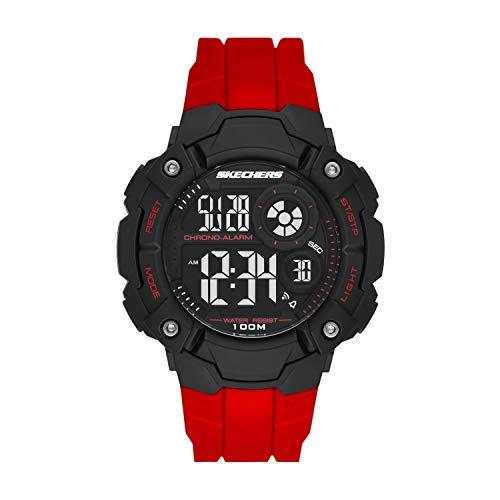 Skechers Men's Westlawn Digital Watch with Polyurethane Strap, Red, 26 (Model: SR1122)