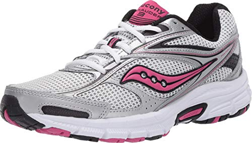 Saucony Women's Grid Marauder 3 Running Shoe, Silver/Pink, 8.5