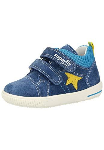 Superfit Baby-Jungen Moppy Lauflernschuhe Sneaker, BLAU/GELB, 20 EU