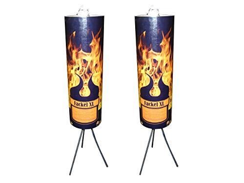 FlammenDoktor Fackel XL / 2 Stück + 2 x Löschkappe