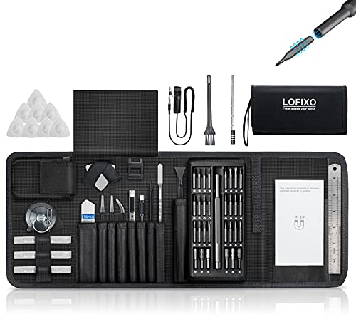 Electronics Screwdriver kit,Computer Repair Tool Kit,ps5 Ps4 tool kit,LOFIXO Small Screwdriver Set with case for nintendo switch iphone ipad,gaming pc build,laptop,mac,xbox,camera,console,eyeglasses