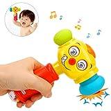 Pywee Juguete para bebé, bebé diversión eléctrica música Juego Martillo educación temprana,Divertidos Ojos cambiantes, para bebés y niños pequeños, para 1 año
