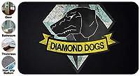 3D ィース クール メタルギアソリッド ダイアモンドドッグス ドアマット 洗える 吸水 速乾 滑り止め オールシーズン適用 (45.72 X 76.2cm)