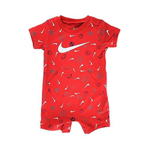 Nike PRINTED ROMPER, Body para niño, rojo, 0-3 meses