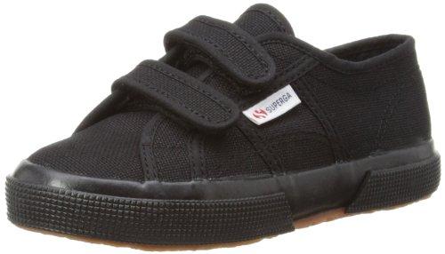 Superga 2750-JVEL CLASSIC S0003E0 Unisex-Kinder Sneaker, 996 Full Black, 25 EU / 7.5 UK