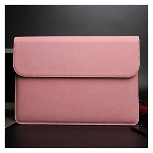 YTG Scrub pu computer liner bag 11 12 15 new 16 touch/ID bar women's men's cover (Color : Pink, Size : 2018 Air 13 A1932)