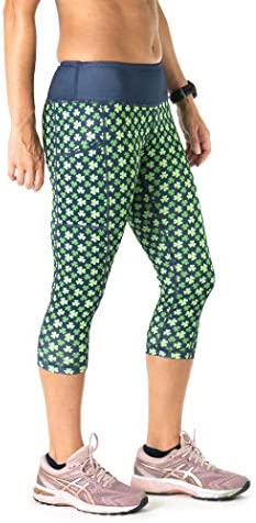 Gone For a Run Running Performance Capris RunTechnology Active Women s Patterned Workout Leggings product image