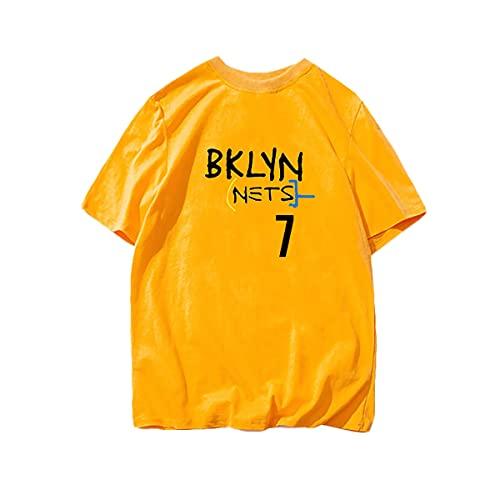 Wanjun Uniforme De Entrenamiento De Baloncesto Kevin Durant, New Jersey Nets, Camiseta De Baloncesto, Camiseta para Hombre, Adecuado para Primavera, Verano, Otoño E Invierno,G-XL