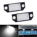 MOLEAQI Luces de matrícula de Coche Lámparas de número de LED de 12V Luz de Placa Luz de Cola para F-ORD F-ocus C-MAX 03-08 MK2 Auto Parts