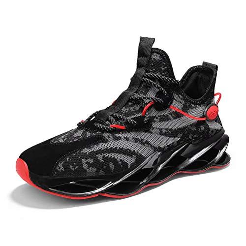 Sneakers Hombre Malla Tejida con Mosca Zapatos De Running Transpirables Casual Zapatos...