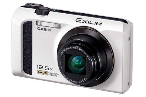 Casio Exilim EX-ZR300 Digitalkamera (16,1 Megapixel, 7,6 cm (3 Zoll) Display, 25-Fach Multi SR Zoom, 24mm Weitwinkel, HS-Nachtaufnahme, HDR) weiß