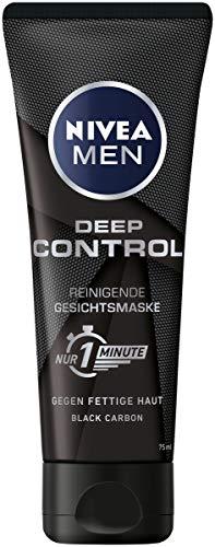 Nivea Men Deep Control reinigende Gesichtsmaske, Gesichtsreinigung für Männer gegen Unreinheiten, Reinigungsmaske (1 x 75 ml)