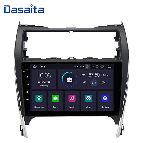 Dasaita Android 9.0 Car Stereo for Toyota Camry 2012 2013 2014 GPS Navigation Radio with 10.2 Inch Screen 2G Ram Head Unit