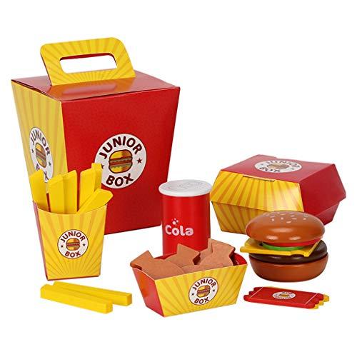 MiSha - Juguetes para hacer semillas, hamburguesas, simulación de juguetes de madera para pequeños juegos de rol, accesorios de cocina, regalos de cocina