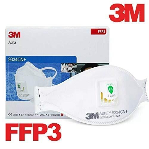 3M Aura 9334CN+ Singapore - Lote de 10 cajas de plástico