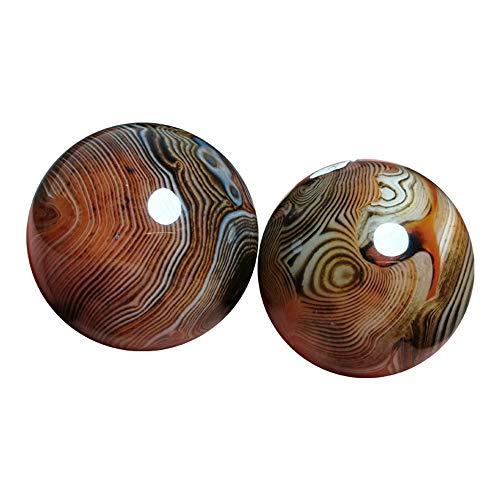 gogobest Chinesische Jade Stress Bälle, Baoding Kugeln Kristall, Jade Stein Massage Hand Ball (M)