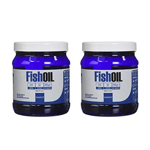 Yamamoto Nutrition Fish OIL integratore di acidi grassi essenziali Omega-3, EPA e DHA da Olio di pesce (2 confezioni (400 softgel))