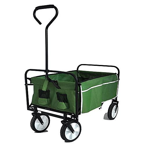 Y/X Poussette de jardin, chariot pliable, pliable, détachable et pliable, pratique pour le camping, les courses, en toile pour enfants, en plein air, jardin, maison et jardin