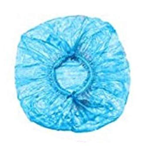 WE-WHLL 100Pcs Bonnet De Douche Jetable Épaissir Élastique Chapeau De Bain Étanche Cheveux Colorant Couverture-Bleu