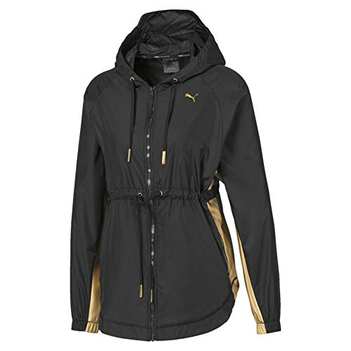 PUMA Damen Trainingsjacke Metal Splash Anorak, Black, M, 519199