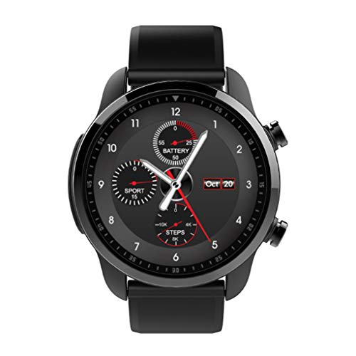 Ip68 Impermeable Bluetooth Smartwatch Pantalla TáCtil Reloj De Pulsera Deportes Gimnasio Rastreador con Ranura PodóMetro Compatible iOS Android Hombres Mujeres NiñOs (Negro)