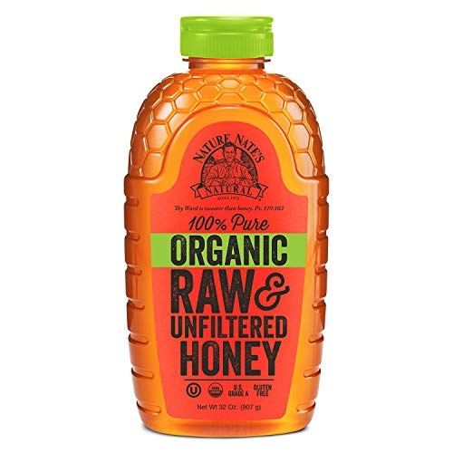 Nature Nate#039s 100% Organic Pure Raw amp Unfiltered Honey 40 oz