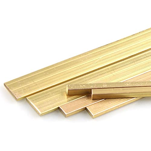 NICOLIE H59 Messing Flachstange Platte Streifenlänge 500Mm Metall Bhs Solid Rod Für Diy Werkzeuge - 4 x 40 x 500mm